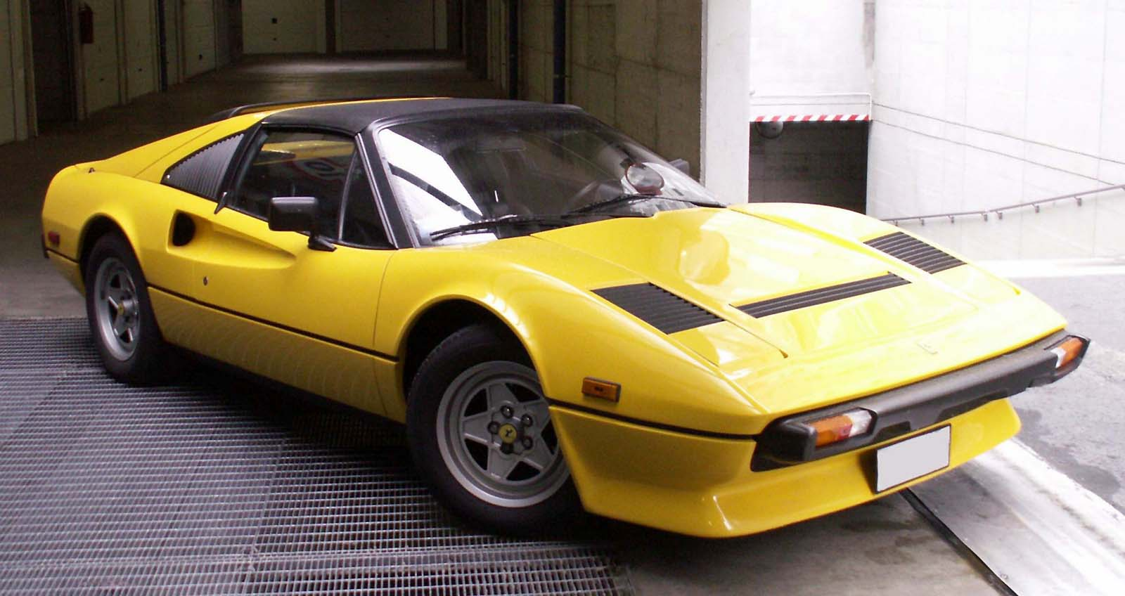 1978 ferrari 308 gts targa yellow rbm cars. Black Bedroom Furniture Sets. Home Design Ideas
